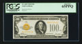 Small Size:Gold Certificates, Fr. 2405 $100 1928 Gold Certificate. PCGS Gem New 65PPQ.. ...