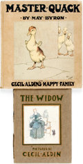Books:Children's Books, [Children's Books.] Pair of Books Illustrated by Cecil Aldin.Titles include The Widow [and:] Master Quack. Various... (Total: 2 Items)