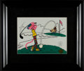 Golf Collectibles:Art, Friz Freleng Signed Pink Panther Serigraph. ...