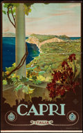 """Movie Posters:Miscellaneous, Capri Travel Poster (ENIT, Late 1920s-Early 1930s). Poster (25.25"""" X 40.5""""). Miscellaneous.. ..."""