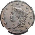 Large Cents, 1823/2 1C N-1, R.2, MS61 Brown NGC....