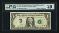 Error Notes:Foldovers, Fr. 1911-I $1 1981 Federal Reserve Note. PMG Very Fine 20.. ...