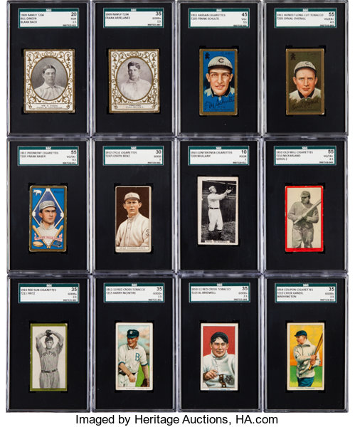 1909 1914 Tobacco Type Card Collection 22 With T209 Bw Lot