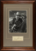 "Movie Posters:Western, Harry Carey (1940s). Framed Photo (8"" X 10"") & Signature. Western.. ..."