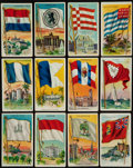 "Non-Sport Cards:Sets, 1909-11 T59 ""Flags of All Nations"" Near Set (189/200) - Mostly""Jack Rose"" Backs. ..."