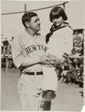 Baseball Collectibles:Photos, Circa 1924 Babe Ruth & Child Photograph, PSA/DNA Type 1....