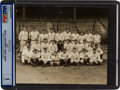 Baseball Collectibles:Photos, 1928 New York Yankees Team Photograph Encapsulated PSA/DNA Type1....