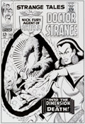 Original Comic Art:Covers, Bruce McCorkindale Strange Tales #152 Cover Re-CreationOriginal Art (2012). ...