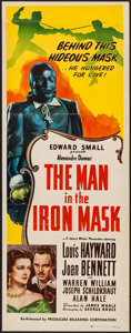"Movie Posters:Adventure, The Man in the Iron Mask (Producers Releasing, R-1947). Insert (14"" X 36""). Adventure.. ..."