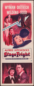 """Movie Posters:Hitchcock, Stage Fright (Warner Brothers, 1950). Insert (14"""" X 36""""). Hitchcock.. ..."""