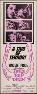 """Movie Posters:Horror, Twice Told Tales (United Artists, 1963). Insert (14"""" X 36""""). Horror.. ..."""