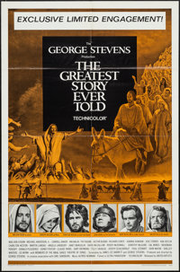 """The Greatest Story Ever Told & Others Lot (United Artists, 1965). One Sheets (49) (27"""" X 41""""), Lobby Card..."""