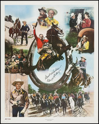 "Gene Autry Print & Other Lot (The Art Merchant, 1982). Autographed Poster (24"" X 30"") and Collectible..."