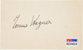 Autographs:Index Cards, Circa 1952 Honus Wagner Signed Index Card....