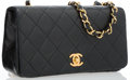"Luxury Accessories:Accessories, Chanel Black Quilted Leather Lambskin Flap Shoulder Bag. Good toVery Good Condition. 7.5"" Width x 4"" Height x 2.25"" D..."