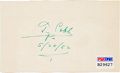 Autographs:Index Cards, 1952 Ty Cobb Signed Index Card....