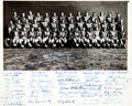 Football Collectibles:Photos, 1955 New York Football Giants Team Signed Photograph....