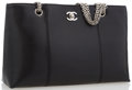 "Luxury Accessories:Accessories, Chanel Black Caviar Leather Tote Bag. Very Good Condition.13"" Width x 8.5"" Height x 3.5"" Depth, 9"" Shoulder Drop. ..."