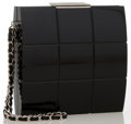 "Luxury Accessories:Accessories, Chanel Black Lucite Clutch Bag with Chain Strap. Very Good Condition. 4.5"" Width x 4.5"" Height x 1"" Depth. ..."