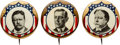Political:Pinback Buttons (1896-present), TR, Wilson and Taft: A Beautiful Matched 7/8-inch Set for the Three 1912 Candidates.... (Total: 3 Items)