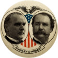Political:Pinback Buttons (1896-present), McKinley & Hobart: Lovely 1 ½-inch Jugate....