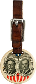 Political:Pinback Buttons (1896-present), Taft & Sherman: Rare 1912-issue 1 ½-inch Celluloid Fob....