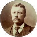 Political:Pinback Buttons (1896-present), Theodore Roosevelt: Imposing 3 ½-inch Celluloid Button....
