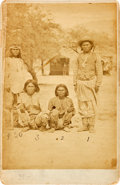 Photography:Cabinet Photos, Arizona Apaches: A Scarce Cabinet Photo by Buchman & Co.,Tucson....