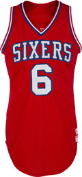 Basketball Collectibles:Uniforms, 1979-86 Julius Erving Game Worn Philadelphia 76ers Jersey, MEARSA10....