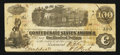 Confederate Notes:1862 Issues, T40 $100 1862 PF-1. Cr. 298.. ...