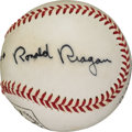 Autographs:Baseballs, 1983 President Ronald Reagan Single Signed Baseball....