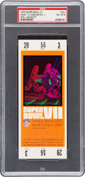 Football Collectibles:Tickets, 1973 Super Bowl VII Full Ticket PSA NM-MT 8....