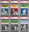 Basketball Cards:Lots, 1961 Fleer Basketball PSA Graded Collection (6). ...