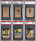 Hockey Cards:Lots, 1951 Parkhurst Hockey PSA NM-MT 8 Collection (6). ...