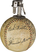Autographs:Baseballs, 1934 Tour of Japan Team Signed Cigarette Lighter Baseball....
