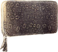 """Luxury Accessories:Accessories, Lamberston Truex Ombre Lizard Wallet with Silver Hardware . VeryGood Condition . 9"""" Width x 5"""" Height x 1"""" Depth ..."""