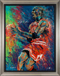 Basketball Collectibles:Others, 2000's Michael Jordan Signed Giclee by William Lopa #23/123....