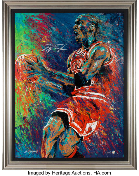 niska cena taniej nowe tanie 2000's Michael Jordan Signed Giclee by William Lopa #23/123 ...