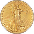 High Relief Double Eagles, 1907 $20 High Relief, Flat Rim AU55 NGC....