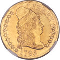 Early Half Eagles, 1795 $5 Small Eagle, BD-3, High R.3 -- Improperly Cleaned -- NGC Details. AU....