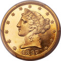 Proof Liberty Half Eagles, 1897 $5 PR66 Deep Cameo PCGS....