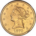 Liberty Eagles, 1870-CC $10 -- Improperly Cleaned -- NGC Details. AU. Variety 1-B....