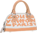 Luxury Accessories:Bags, Louis Vuitton Limited Edition Peach Monogram Graffiti Canvas AlmaHaute PM Bag by Stephen Sprouse . Very Good Condition ...