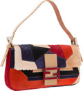 """Luxury Accessories:Bags, Fendi Multicolor Ponyhair Baguette Bag. Good to Very GoodCondition. 10"""" Width x 6"""" Height x 1.5"""" Depth. ..."""