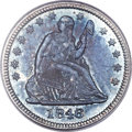 Proof Seated Quarters, 1846 25C PR64 PCGS. Briggs 4-F....