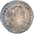 Early Half Dimes, 1796 H10C LIKERTY, V-1, LM-1, R.3, MS61 PCGS....