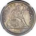 Seated Quarters, 1875-CC 25C MS65 NGC. Briggs 1-A....