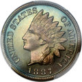 Proof Indian Cents, 1887 1C PR67 Brown PCGS. CAC....