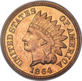 Proof Indian Cents, 1864 1C Bronze No L PR66 Red and Brown PCGS. CAC....
