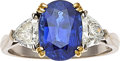 Estate Jewelry:Rings, Sapphire, Diamond, Gold Ring, Gübelin. ...